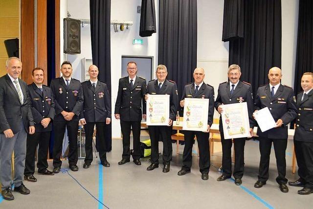 Feuerwehr-Ehrenkreuze für Rettungsaktion in Gutach