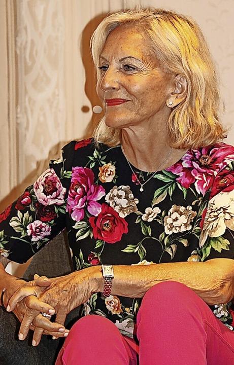 Gaby Hauptmann, Buchautorin und Fernse...nd Temperament  Einblick in ihr Leben.    Foto: Martha Weishaar