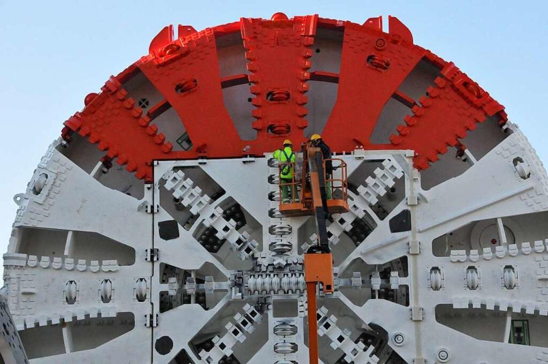 Abnahme der Tunnelbohrmaschine TBM-S 9...auch für den Tunnel Offenburg in Frage  | Foto: Helmut Seller