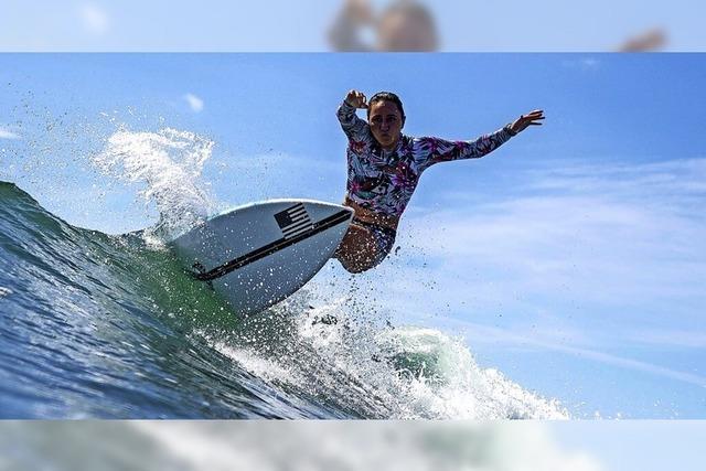 Olympia-Premiere der Surferinnen und Surfer