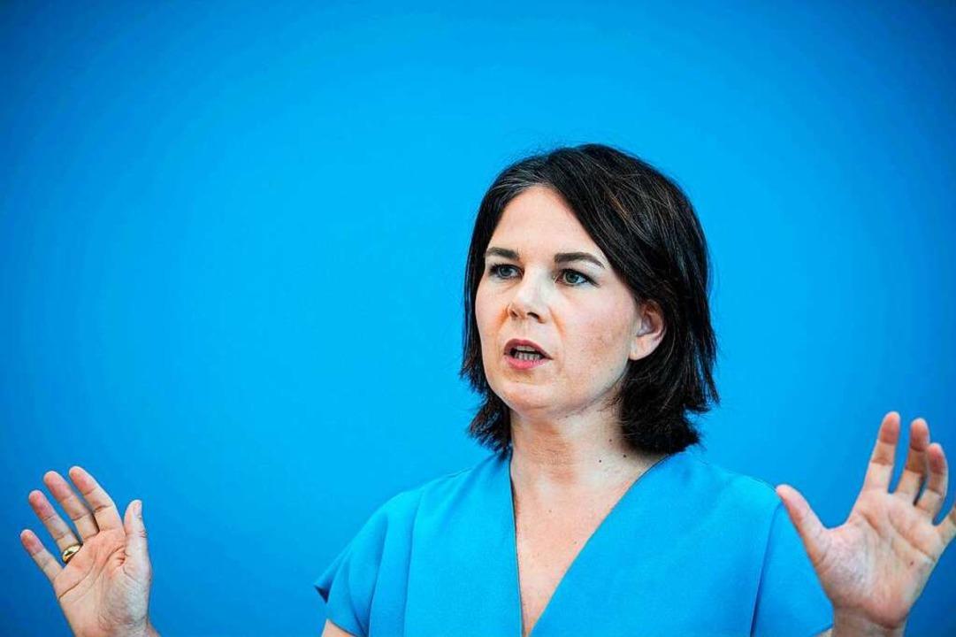 Kanzlerkandidatin Annalena Baerbock    Foto: STEFANIE LOOS (AFP)