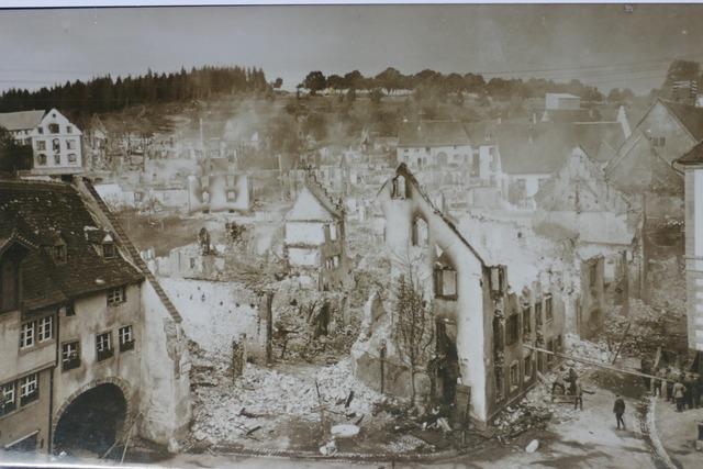 Als die Löffinger Innenstadt vor hundert Jahren in Flammen stand