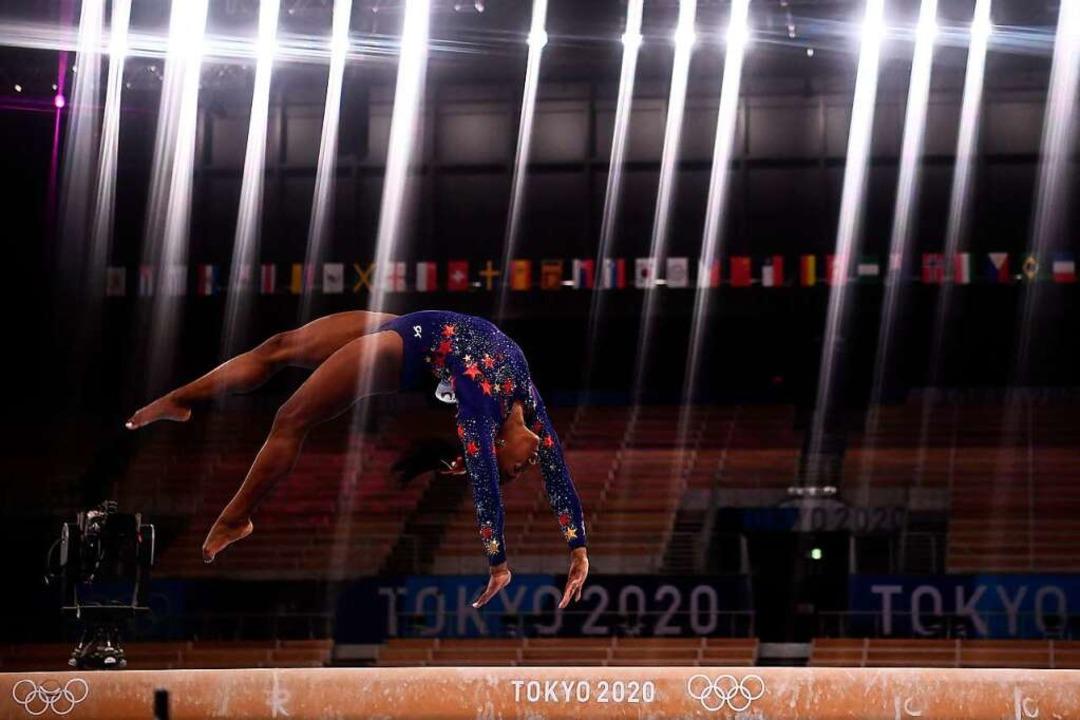 Für das Finale im Einzel-Mehrkampf  ha...57,731 Punkten als Beste qualifiziert.  | Foto: LOIC VENANCE (AFP)