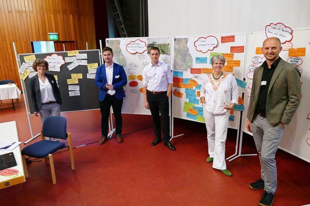Ideen und Wünsche gebündelt (von links...gen), Hartmut Fünfgeld (Leiter Loklim)    Foto: Frank Schoch