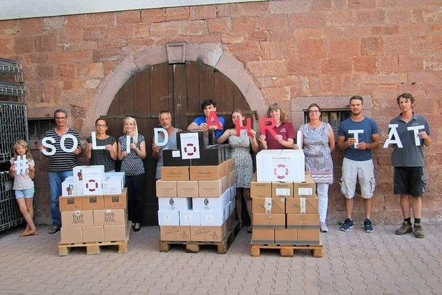 Markgräfler Weingüter unterstützen ihre Kollegen im Ahrtal