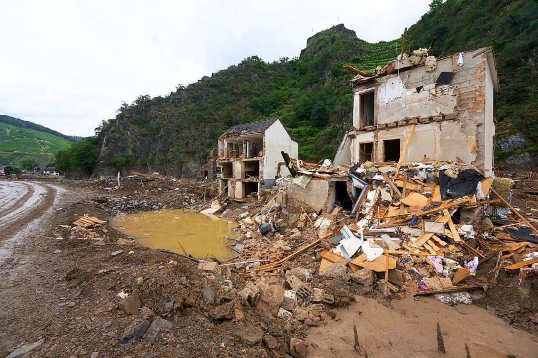 Bei der Flut kamen an der Ahr mindestens 134 Menschen ums Leben.    Foto: Thomas Frey (dpa)