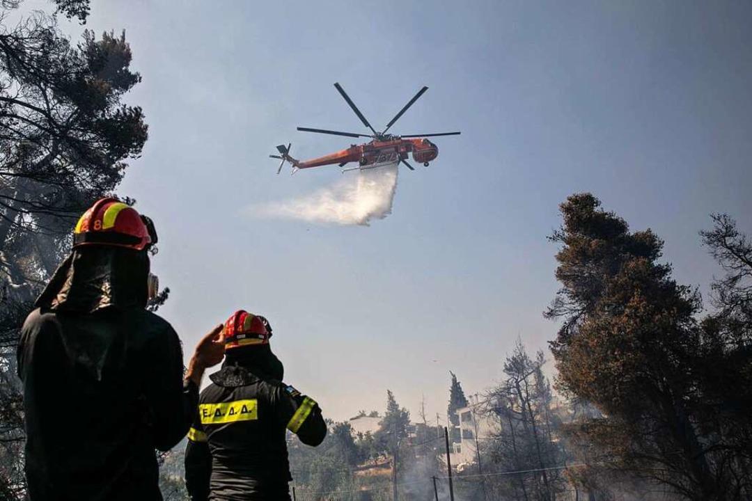 Einen ersten Waldbrand nordöstlich von... könnte ein Vorgeschmack gewesen sein.    Foto: Lefteris Partsalis (dpa)