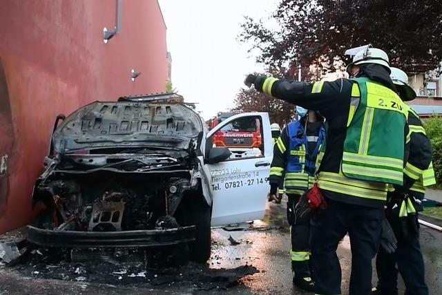 Jugendlicher nach viertem Autobrand in Lahr vorläufig festgenommen