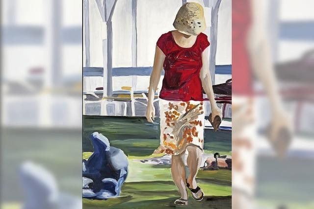 Die Künstlerin Almut Quaas hat Motive aus dem Freiburger Damenbad gemalt