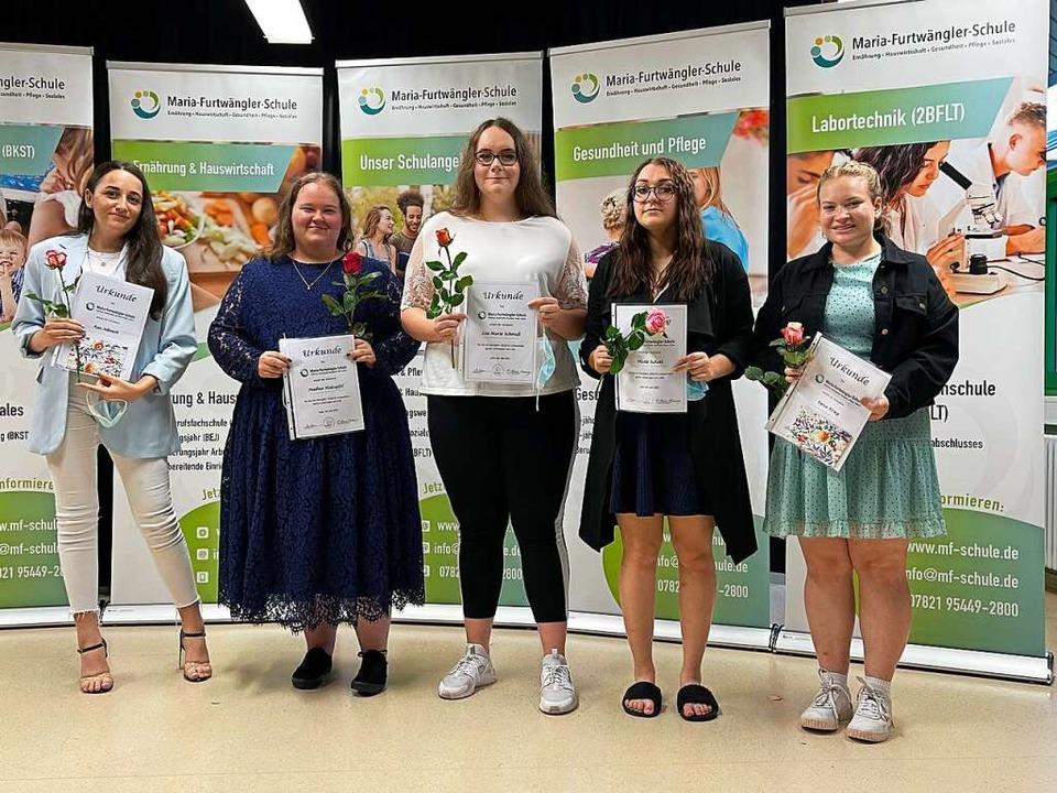 Preisträgerinnen sind Schülerinnen der...Berufsfachschule Gesundheit und Pflege  | Foto: Schule