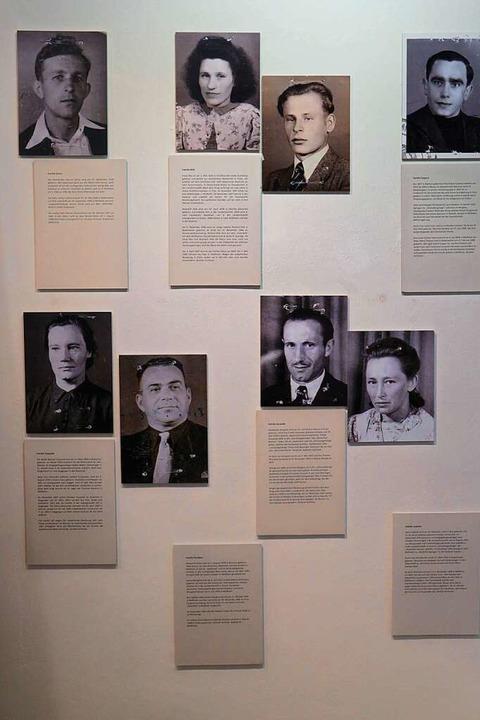 Ein Schwerpunkt der Ausstellung widmet...hicksal der ehemaligen Zwangsarbeiter.  | Foto: Alexander Huber