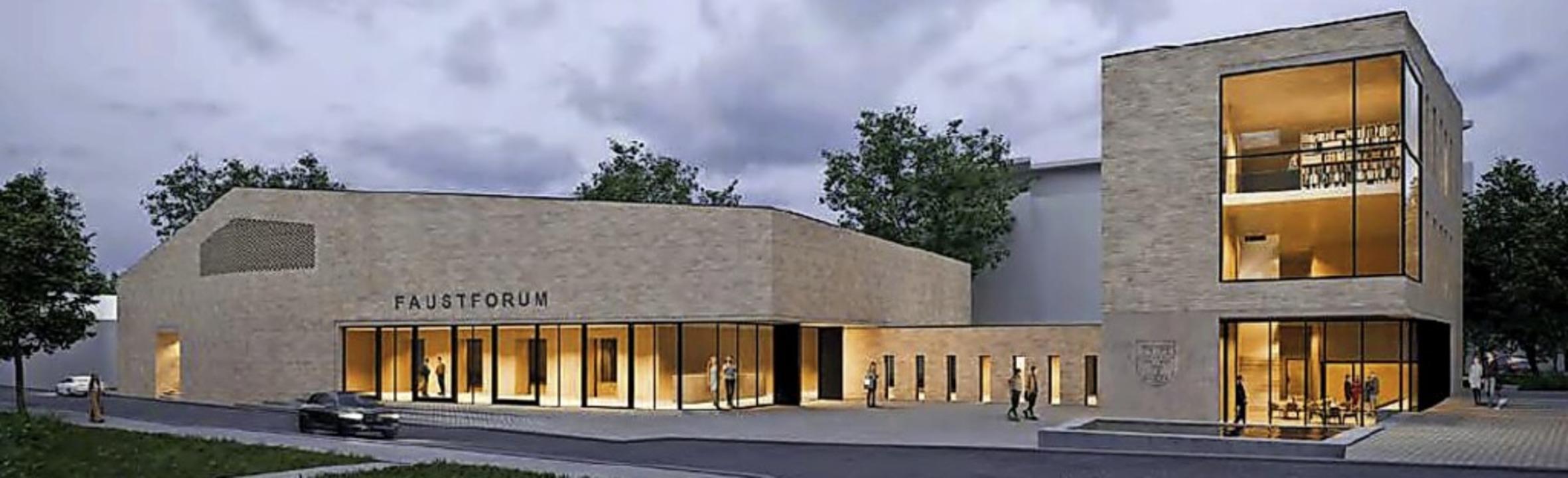 """So könnte  es aussehen, das Bürgerhaus... """"Faustforum"""" heißen soll.    Foto: Stadt Staufen"""