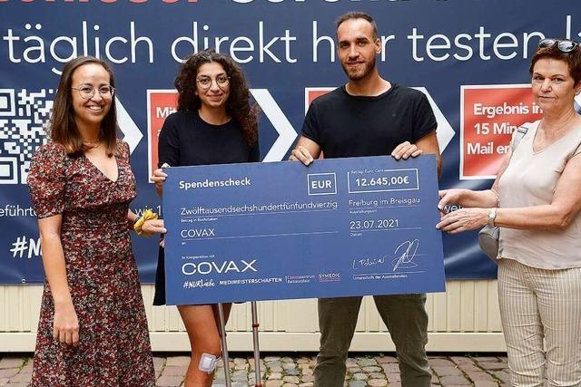 10.000-Euro-Spende zum Schnelltest Nummer 10.000