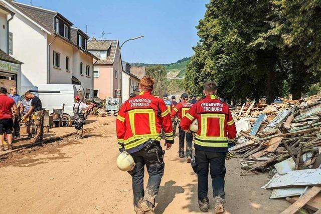 Freiburger Feuerwehrleute waren im Katastrophengebiet