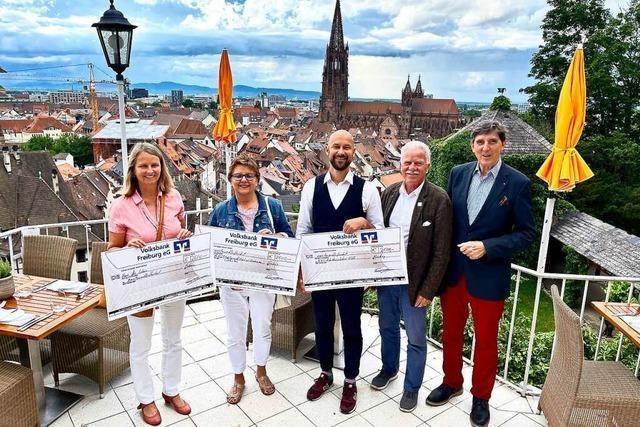 Drei Initiativen profitieren von Spende des Kiwanis-Clubs Freiburg