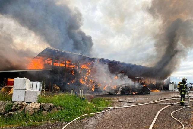 750.000 Euro Schaden bei Brand auf Bauernhof in Dachsberg