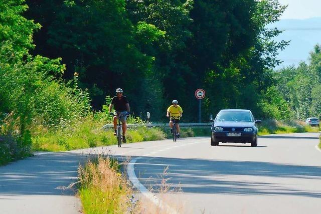 Radler wollen Warnbaken für den Radweg zurück