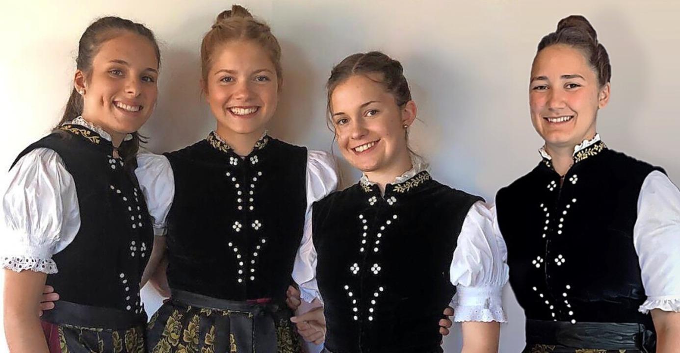 Komplett neu ist die Führung der Jugen...bler, Tamina Faller und Marlene Bach.   | Foto: Trachtenakkordeonclub