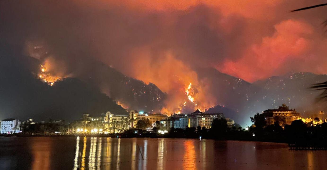 Brände in der Stadt Marmaris an der türkischen Riviera    Foto: Alina Kvasha via www.imago-images.de