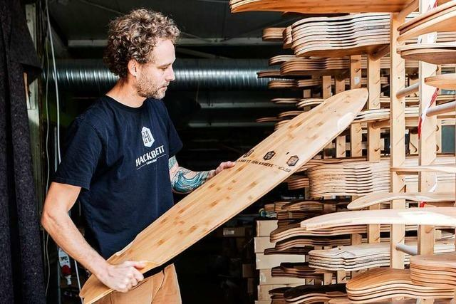 Am Mittwoch kann man bei Layback lernen, wie Longboards gebaut werden