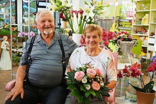 Das Ehepaar Walliser aus Weil am Rhein ist seit 65 Jahren verheiratet