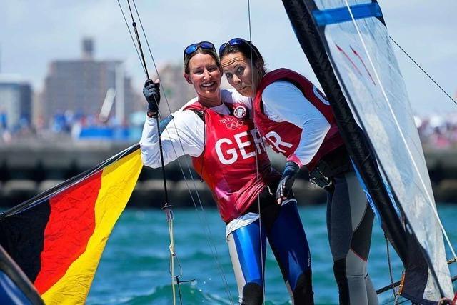 Tina Lutz und Susann Beucke holen olympisches Segel-Silber