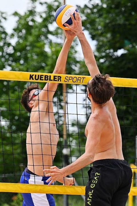 Turnierspieler auf der Fünffelder-Anlage in Aktion    Foto: Achim Keller