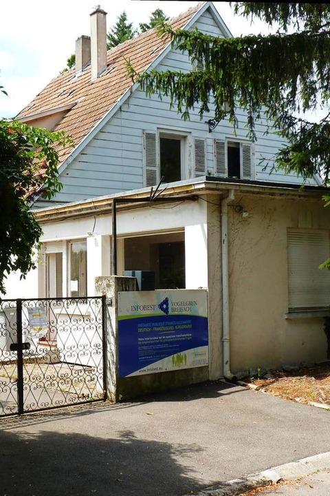 Im Moment ist die Infobest-Beratungsst...chen auf der Rheininsel untergebracht.    Foto: Sattelberger