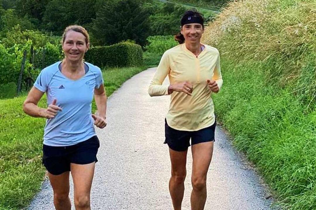 Christine Tunkel (links) beim Training mit Petra Ehret  | Foto: Ulrike Le Bras