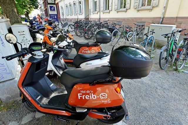 E-Leihroller verschärfen das Parkplatzproblem in Freiburg