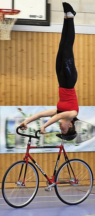 Caroline Wirth bei ihrer Kür in Aach    Foto: Wilfried Schwarz