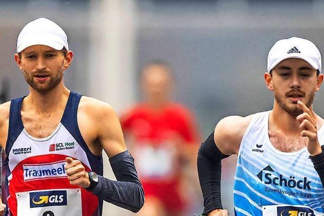 Die südbadischen Geher Carl Dohmann und Nathaniel Seiler vor den letzten olympischen 50 Kilometern
