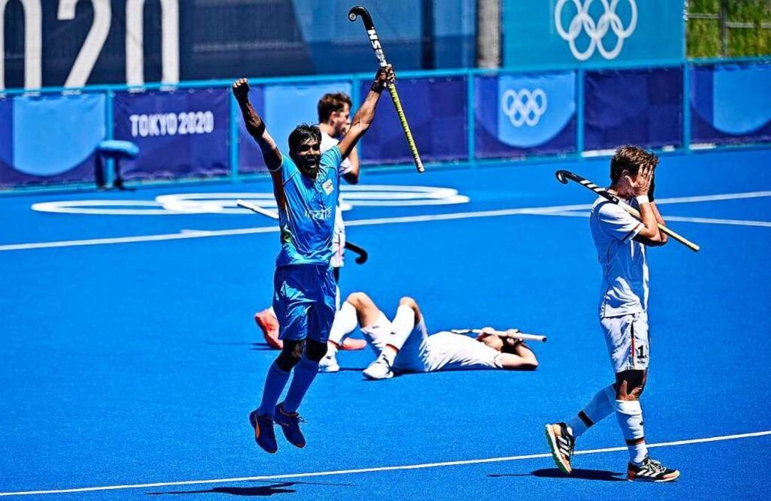Entsetzen ob der verpassten Medaille: ...oren das Spiel um Bronze gegen Indien.    Foto: ANNE-CHRISTINE POUJOULAT (AFP)