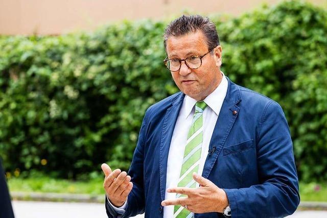Landwirtschaftsminister Peter Hauk stellt sich der Diskussion in Schönau