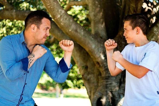 Am Sonntag gibt's ein Schnupper-Boxtraining für Väter und Kinder