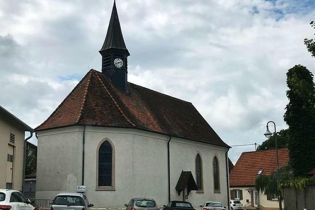 Kuriose Kritzeleien in der Kapelle in Rheinweiler