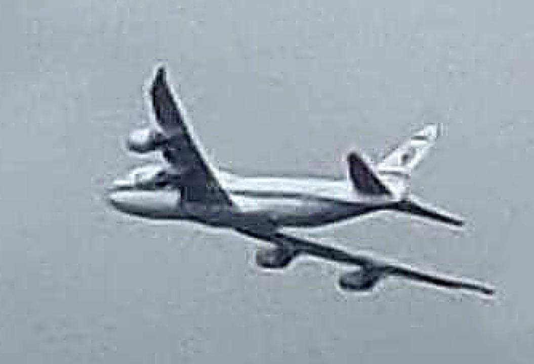 Die gesichtete Boeing 747 in Lahr  | Foto: Kirsten Hauser