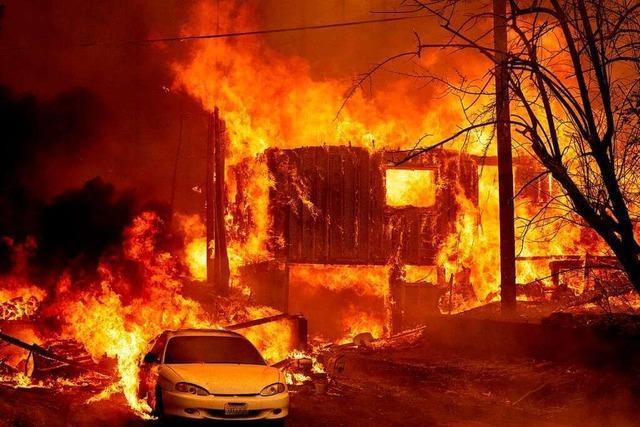Waldbrand in Nordkalifornien zerstört historische Goldgräberstadt