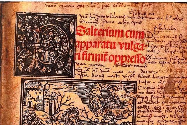 Ein Psalter von 1513 erinnert ans segensvolle Wirken der Kapuziner