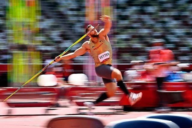 Johannes Vetter aus Offenburg kann Gold im Speerwurf holen