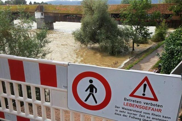 Der Rhein ist bei Bad Säckingen bei Hochwasser keine große Gefahr