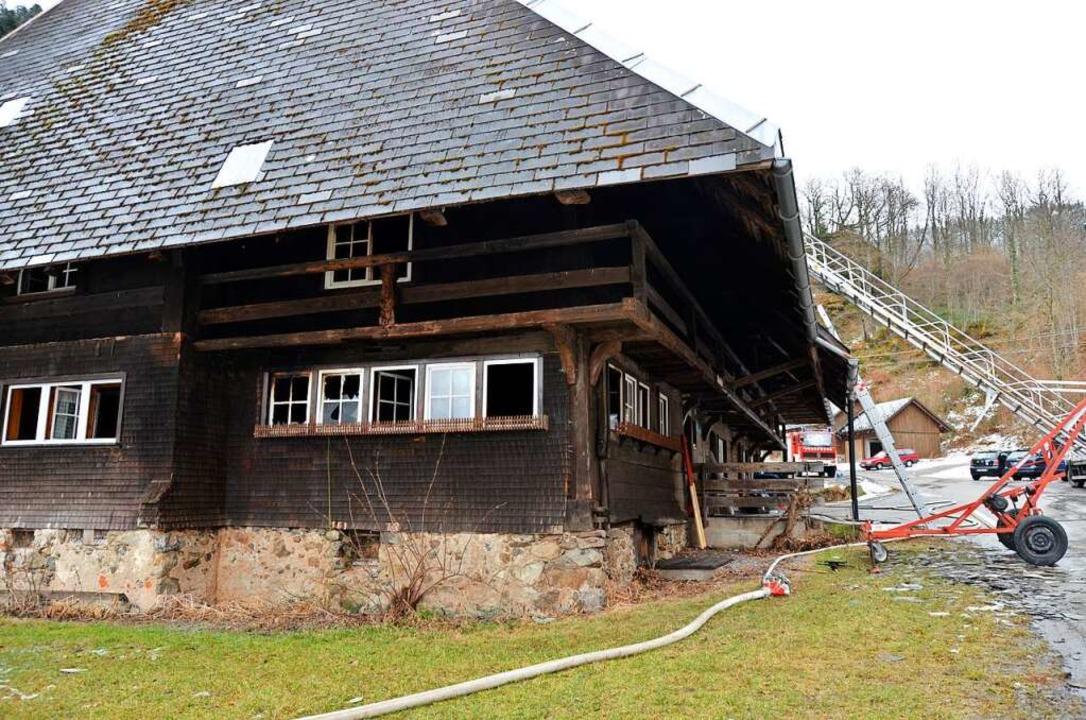 Der Mederlehof kurz nach dem Brand im Jahr 2017.     Foto: Moritz Lehmann