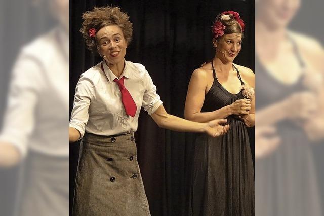 Zwei Damen wird Witz und Esprit