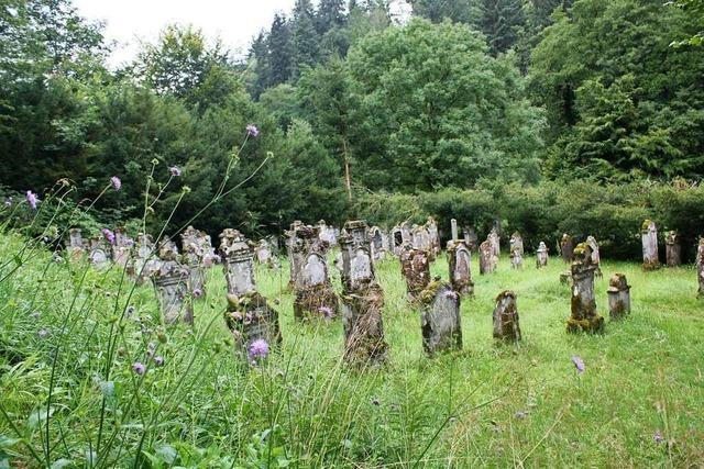Der jüdische Friedhof in Sulzburg stammt aus dem 18. Jahrhundert