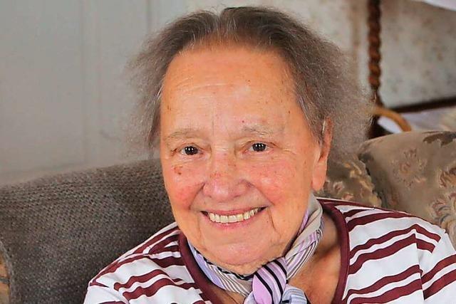 Elsa Wohlschlegel aus Meißenheim wird heute 90 Jahre alt