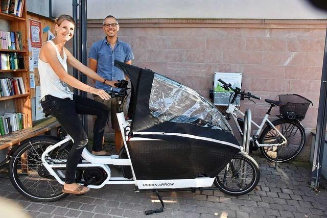 In Heuweiler kann man bald ein Lastenrad leihen