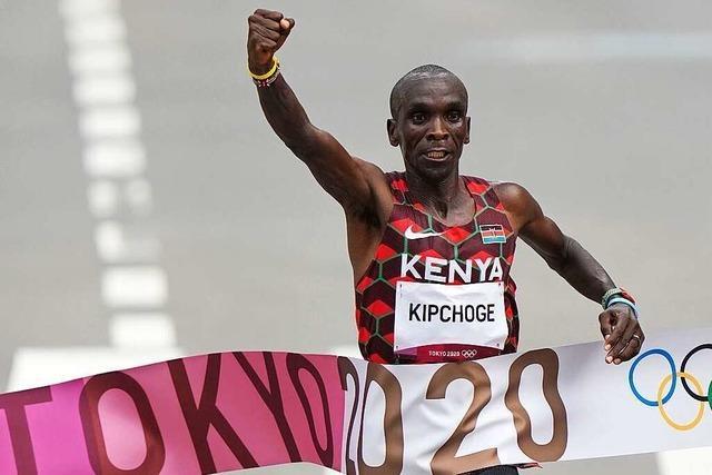 Weltrekordhalter Eliud Kipchoge verteidigt Marathon-Titel