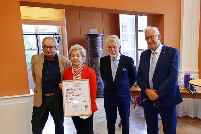 Waldkircherin erhält im Elsass den Beatus-Rhenanus-Preis