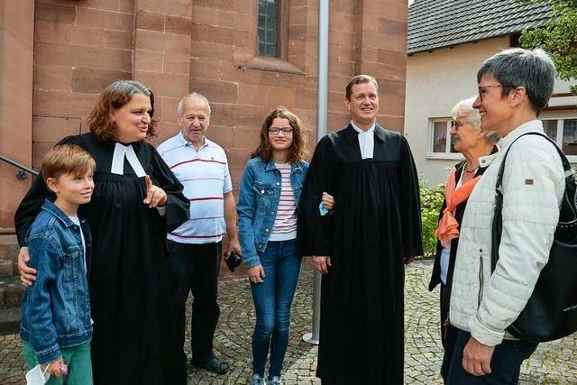 Kippenheimer Pfarrgemeinde begrüßt das neue Pfarrerehepaar Grüsser