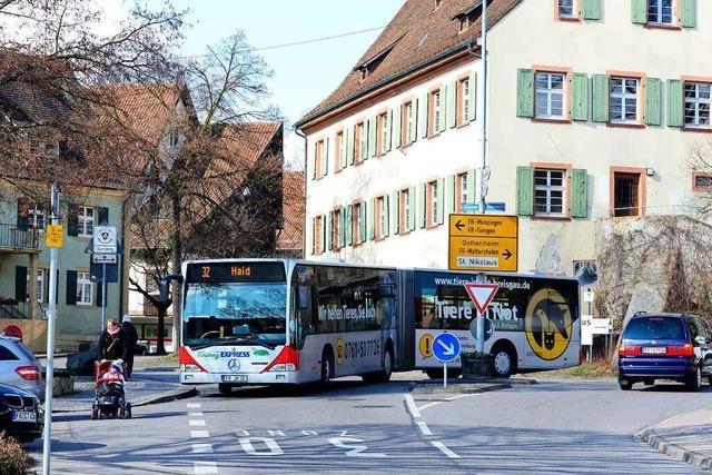 Die Buslinien 32 und 33 werden in Opfingen umgeleitet